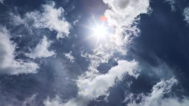 Clouds And Sun In Summer: Stock Video
