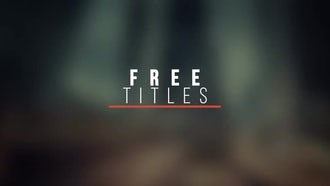 Modern Titles V6 FREE: After Effects Templates