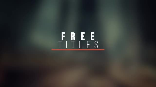 Modern Titles V6 Free After Effects Templates Motion Array