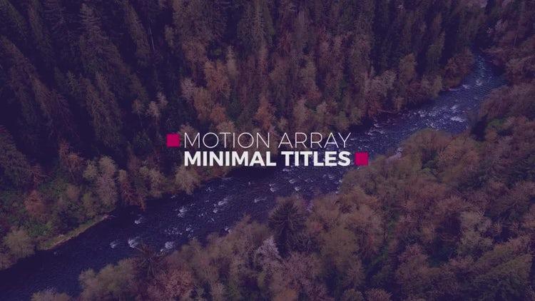 New Minimal Titles: Premiere Pro Templates