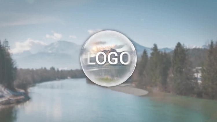 Glass Sphere Logo: After Effects Templates