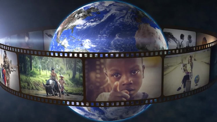 Planet Earth And Film 360 Loop: After Effects Templates