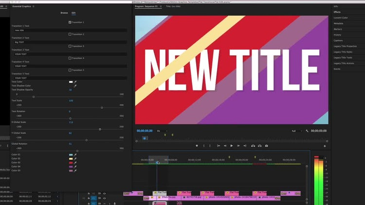 Flat Transitions: Motion Graphics Templates