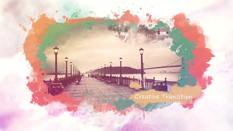 Multi-colored Ink Slideshow : After Effects Templates
