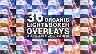 36 Organic Light & Bokeh Overlays: Motion Graphics