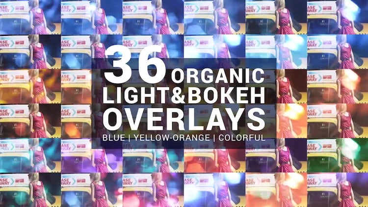 36 Organic Light & Bokeh Overlays: Stock Motion Graphics