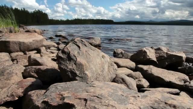 Rocks At The Lake: Stock Video