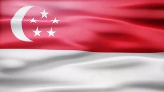 Singapore Flag: Motion Graphics