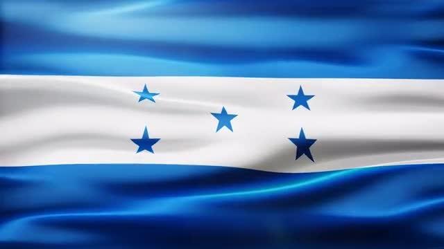 Honduras Flag: Stock Motion Graphics