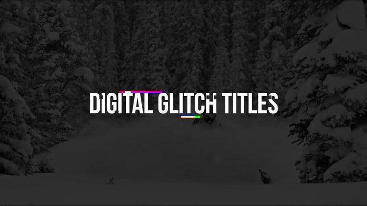 Digital Glitch Titles: Premiere Pro Templates