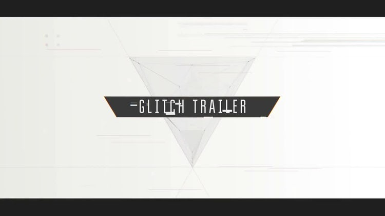 Cinematic Glitch Trailer: After Effects Templates