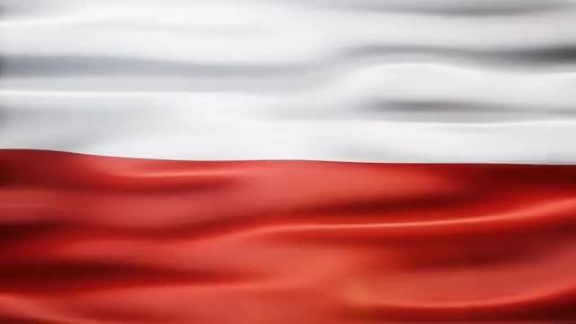 Poland Flag: Stock Motion Graphics