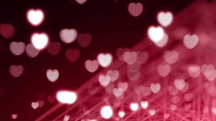 Red Hearts Overlay: Stock Motion Graphics