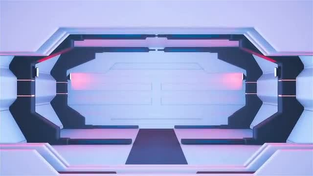 Spaceship Corridor: Stock Motion Graphics