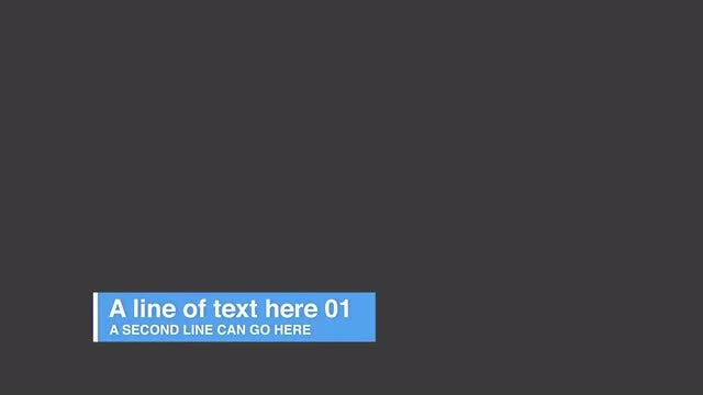 Live Text Lowerthirds: After Effects Templates