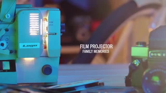 Family Memories Film Projector: Premiere Pro Templates