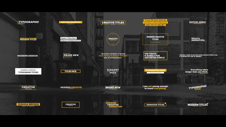 30 Modern Titles: After Effects Templates