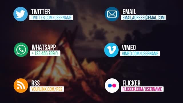 Flat Social Media Lower Thirds: After Effects Templates