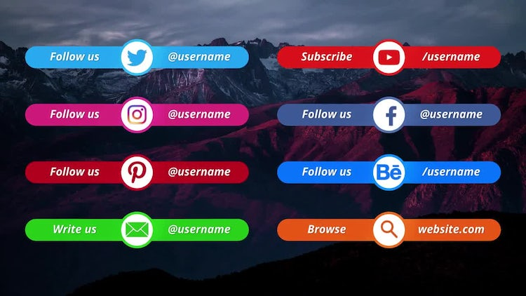 Social Media Lower Thirds: Premiere Pro Templates