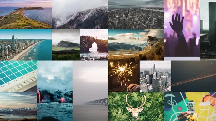 Dynamic Slideshow Photo Video Wall: After Effects Templates