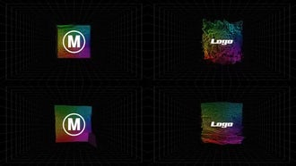 4 Glitch Spectrum Logo Reveals: After Effects Templates