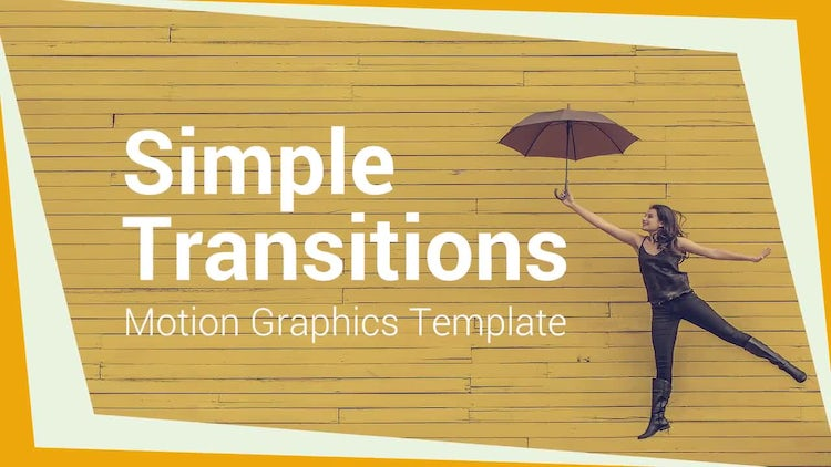 Simple Transitions: Motion Graphics Templates