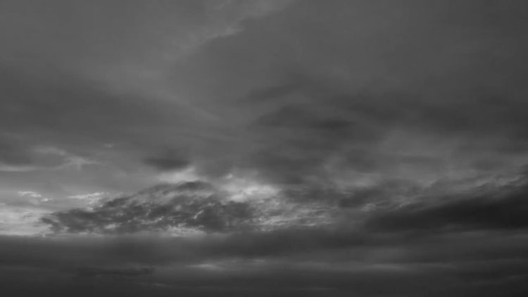 Black & White Sky: Stock Video