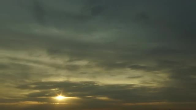Sunrise Sky Clouds Time Lapse: Stock Video