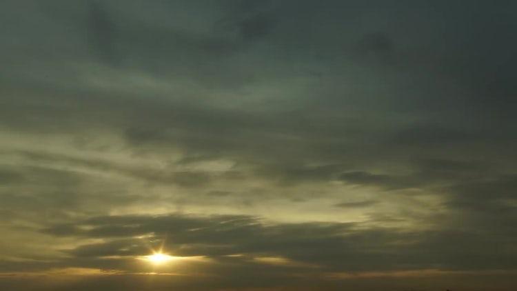 Sunrise Sky Clouds Time Lapse: Stock Video