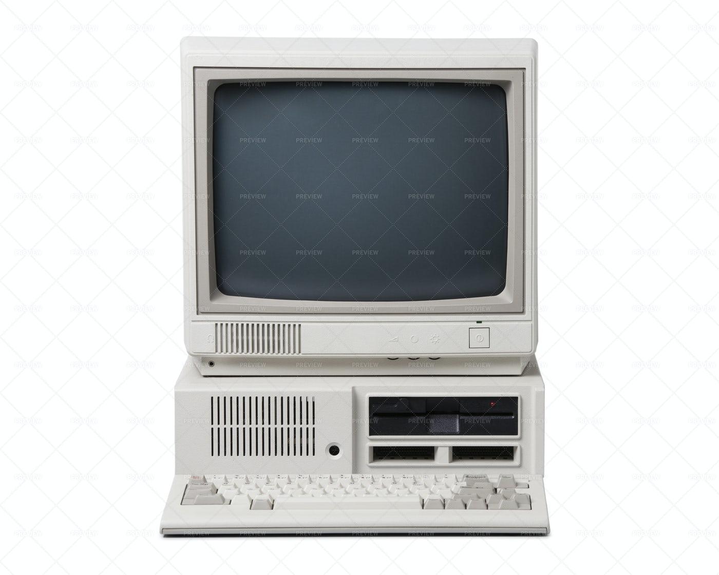 Retro Personal Computer: Stock Photos