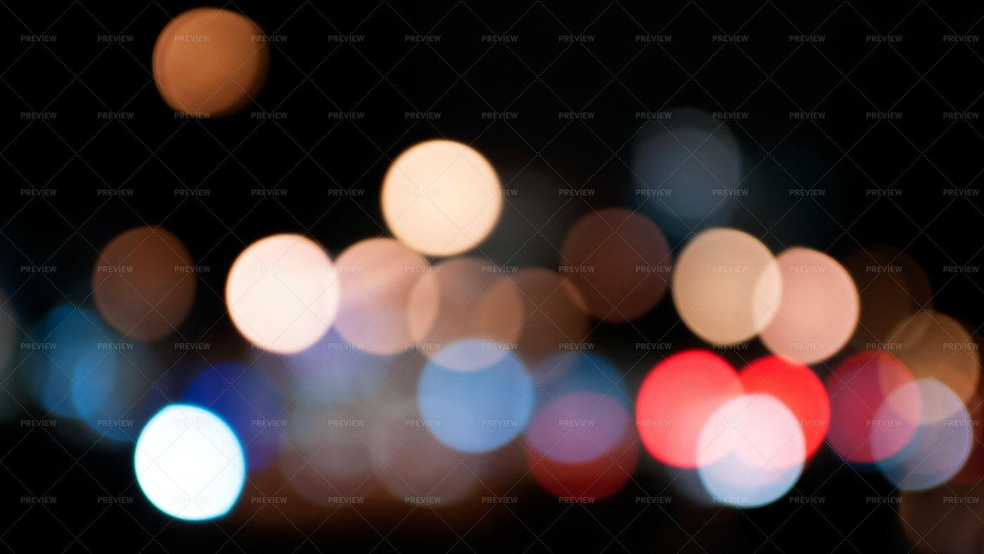 City Night Light Bokeh: Stock Photos