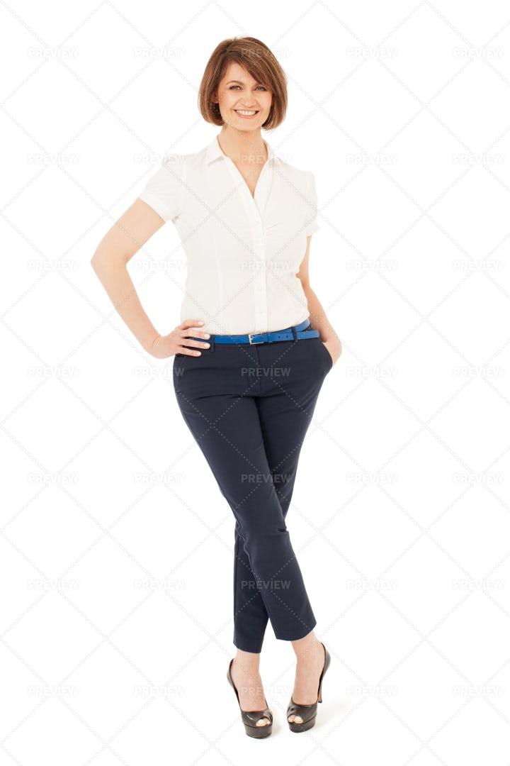 Isolated Woman On White: Stock Photos