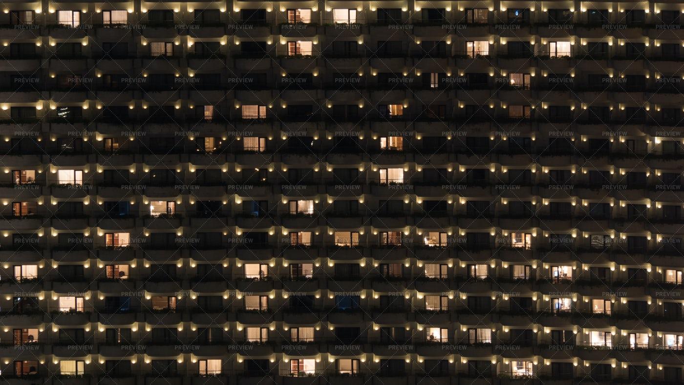 Highrise Apartment Facade: Stock Photos