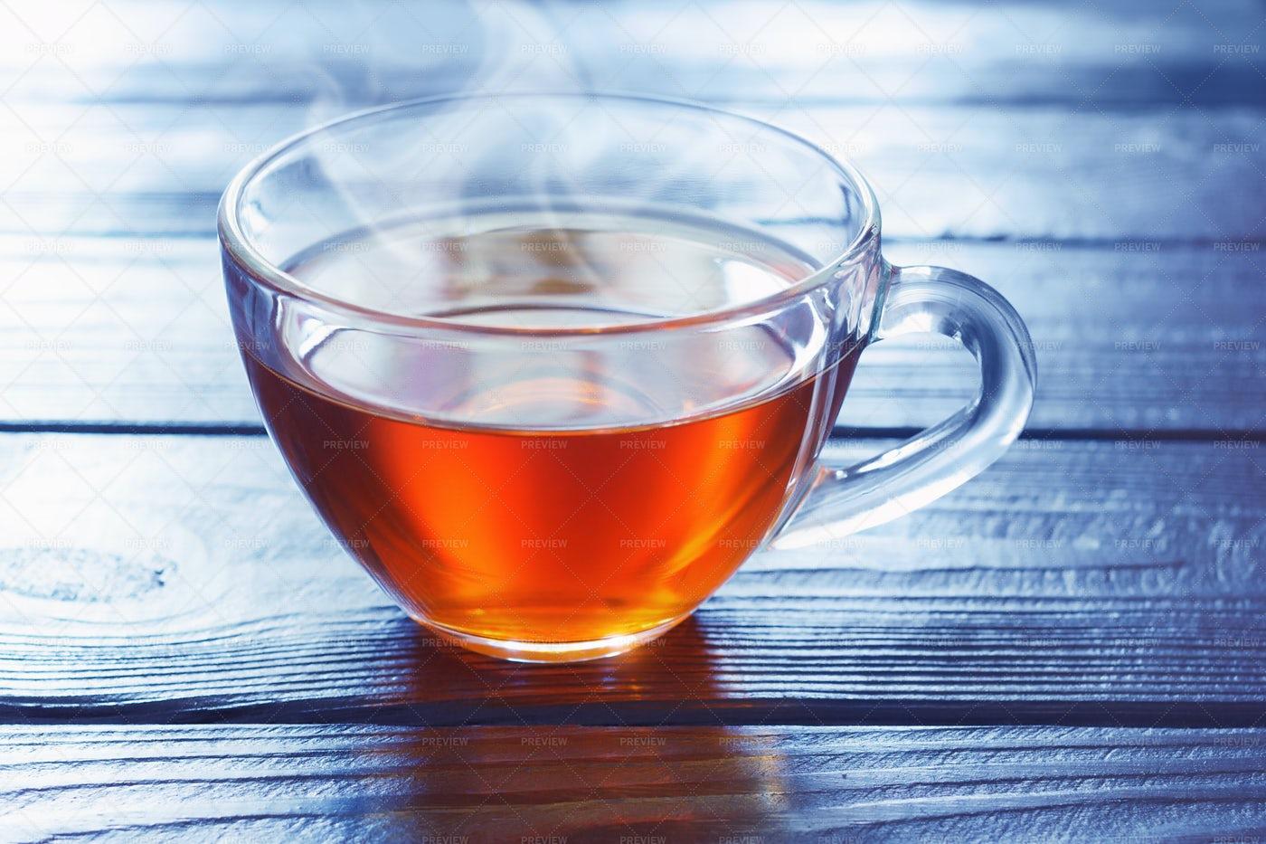 Tea On Wooden Table: Stock Photos