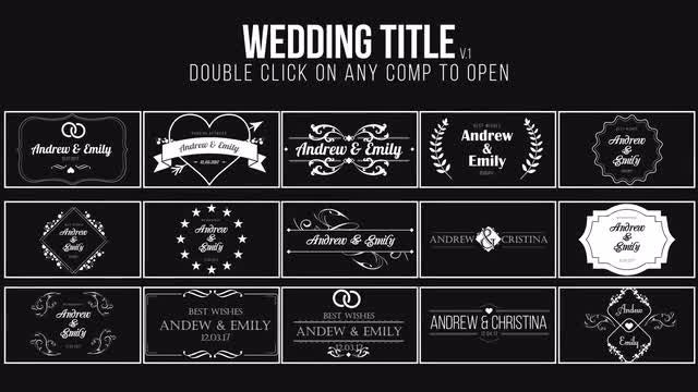 Wedding Title: After Effects Templates