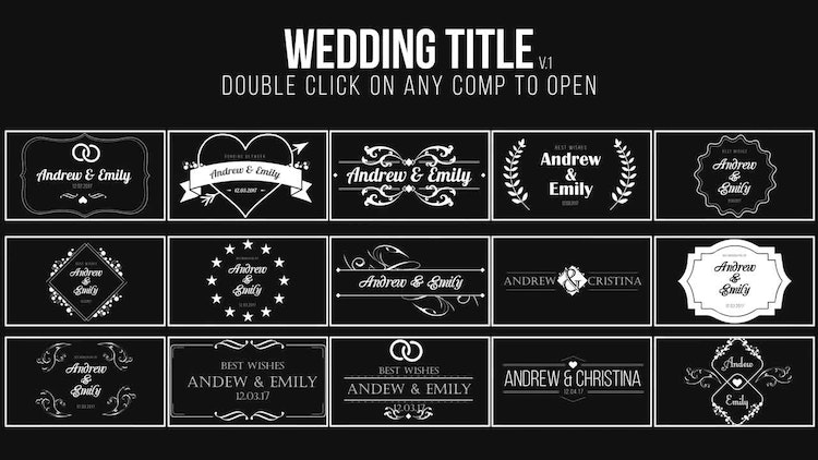 wedding title after effects templates motion array