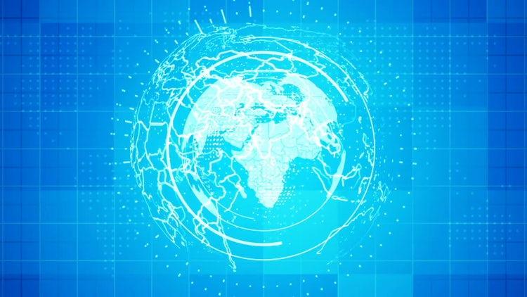 3D Globe News Background: Motion Graphics