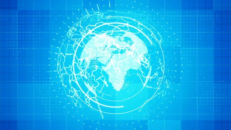 3D Globe News Background: Stock Motion Graphics