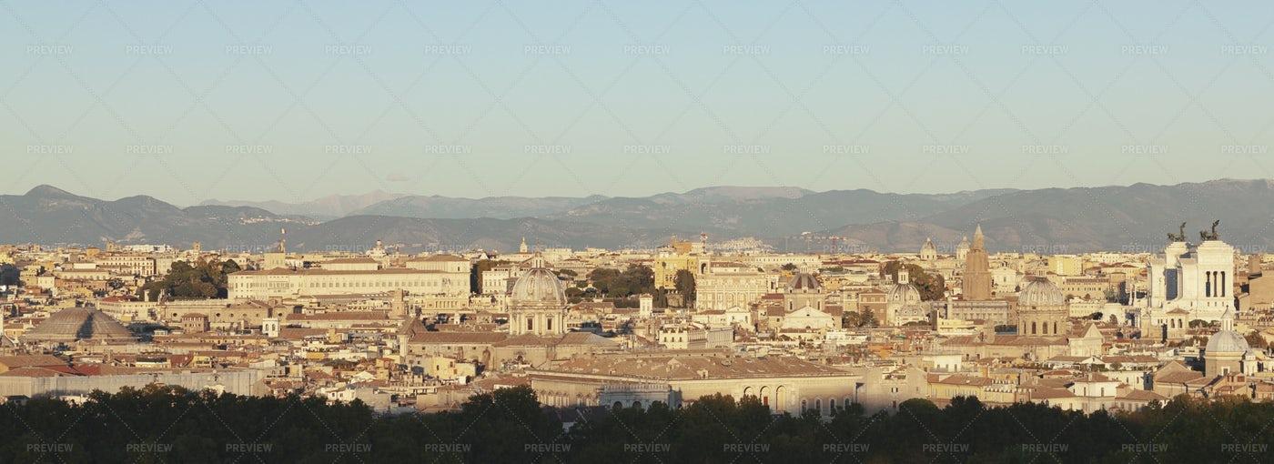 Rome City Panorama: Stock Photos