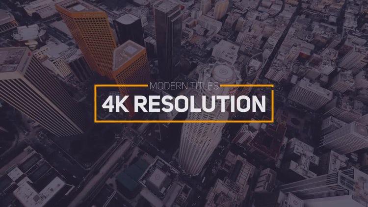 Modern Titles 4k: Premiere Pro Templates
