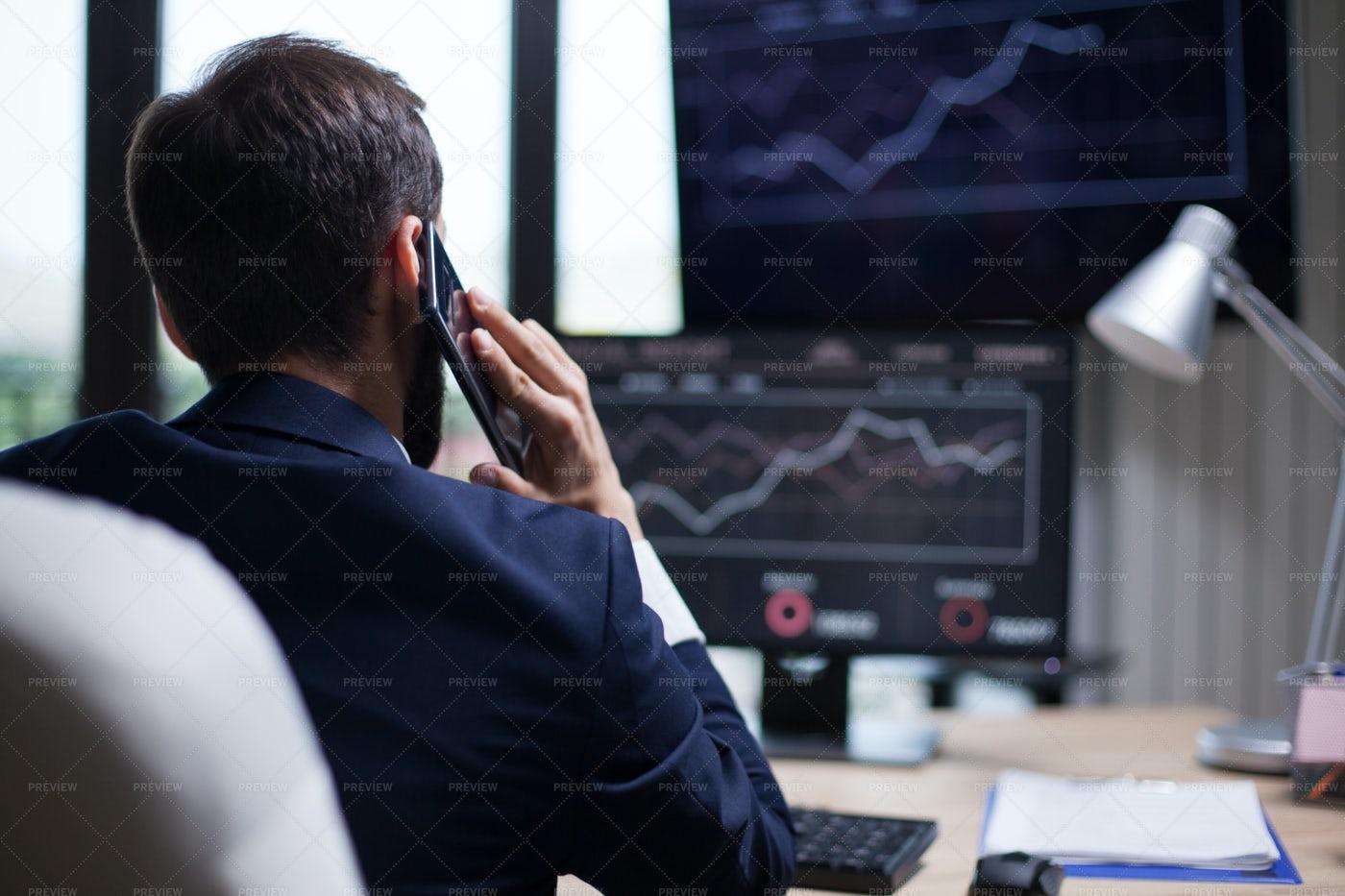 Businessman On The Phone: Stock Photos