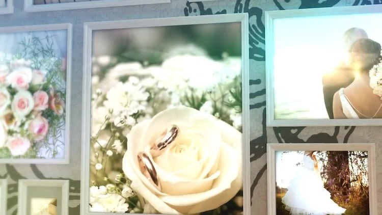 Photo Wall Wedding Slideshow: After Effects Templates