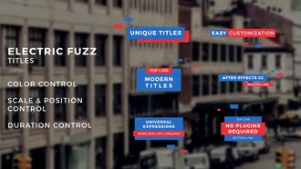 Electric Fuzz Titles: After Effects Templates