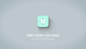 Short Elegant Logo Reveal: After Effects Templates