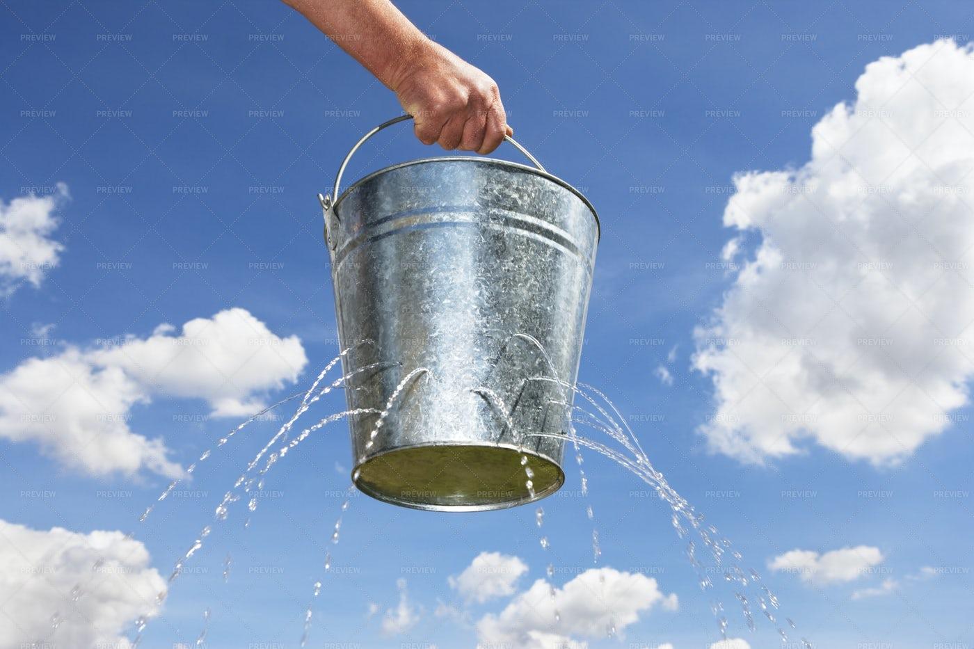 Leaky Bucket: Stock Photos
