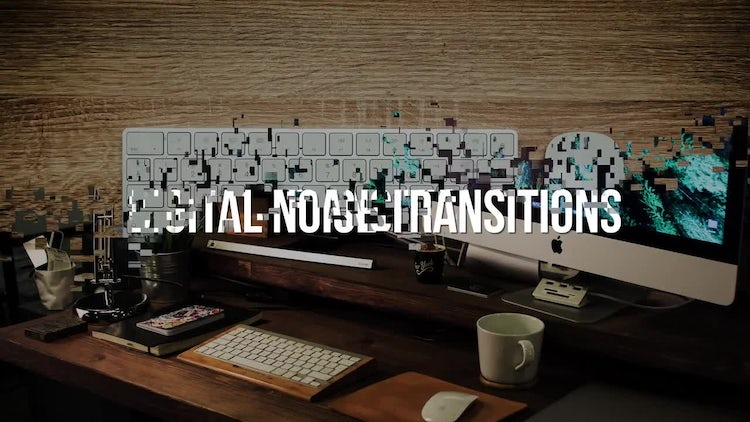 Digital Noise Transitions: Motion Graphics