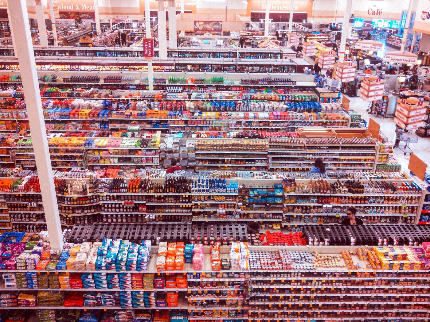 Grocery Store Interior: Stock Photos