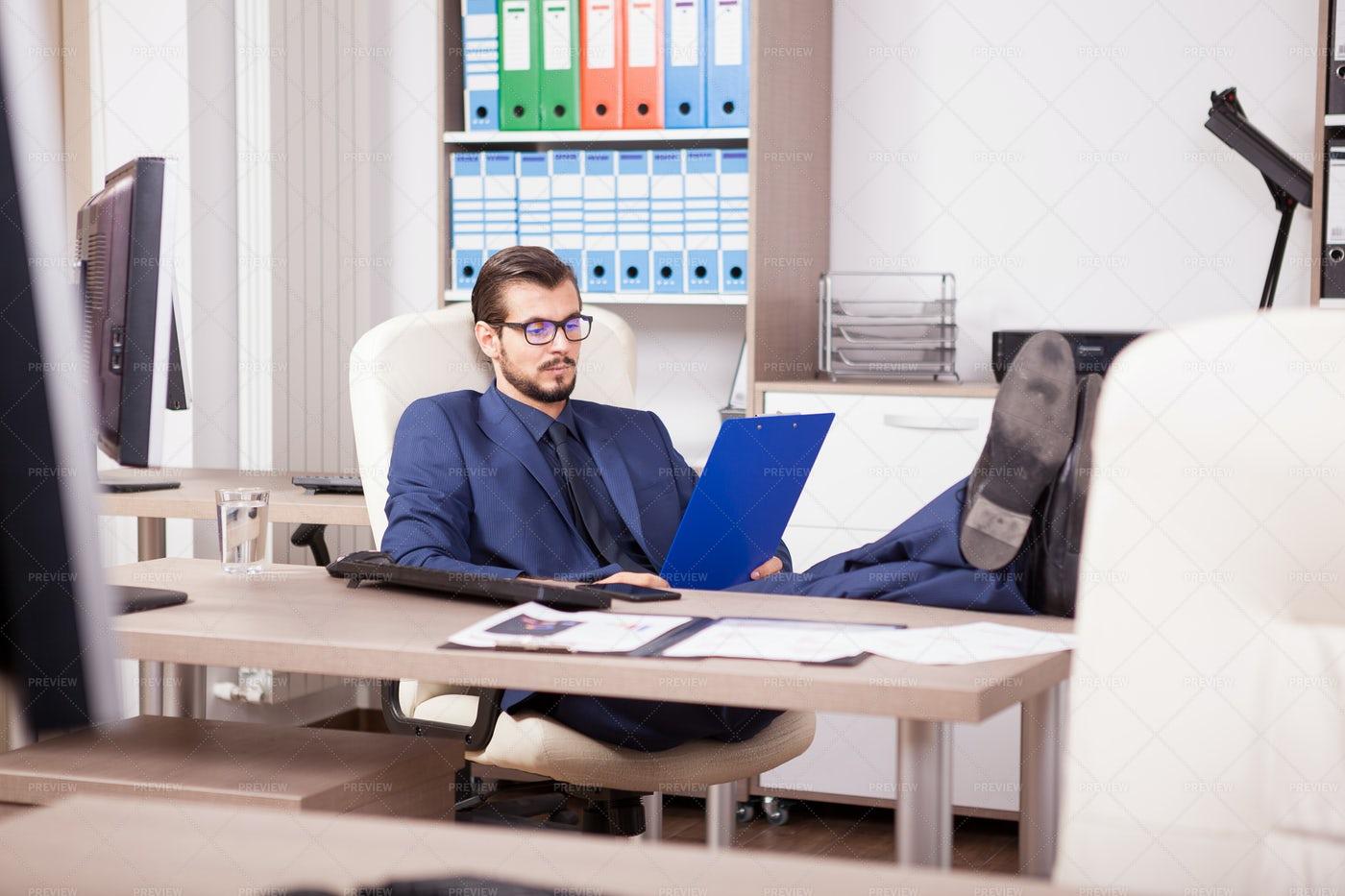 Relaxed Businessman: Stock Photos