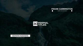 30 Minimal Titles: Premiere Pro Templates