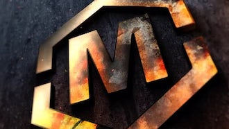 Metal Fire Logo or Text: After Effects Templates